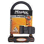 image of Master Lock Street Fortum Gold Sold Secure D Lock 210x110mm - Black