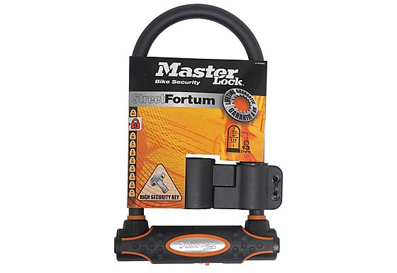 Master Lock Street Fortum Gold Sold Secure D Lock 280x110mm - Black