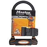 image of Master Lock Street Fortum Gold Sold Secure D Lock 280x110mm - Black