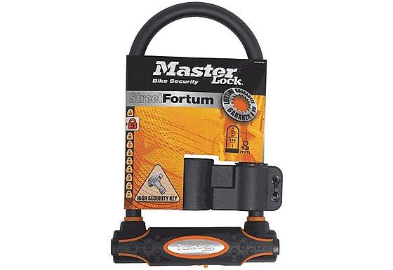 Master Lock Street Fortum Gold Reflective D Lock - 210mm x 110mm