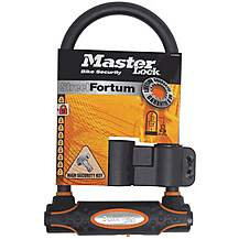 image of Master Lock Street Fortum Gold Reflective D Lock - 210mm x 110mm