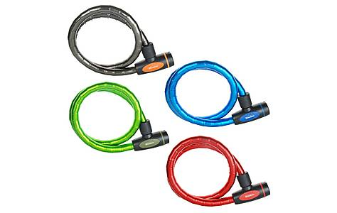image of Master Lock 4 x Armoured Cable Locks - Assorted Colours - 1000 x 18mm