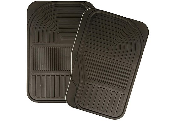 Halfords Rubber Car Mats - Front Pair
