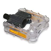 image of Vavert Folding Commuter Pedals - Grey/Clear