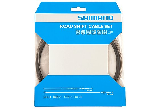 Shimano Road Gear Cable Set with PTFE Coated Inner Wire