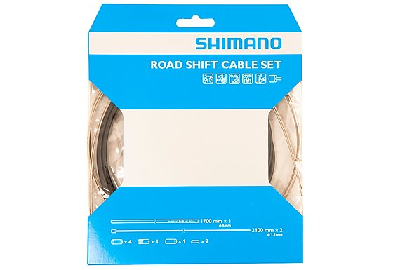 Shimano Road Gear Cable Set Black