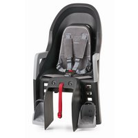 Polisport Guppy Maxi Carrier Fixing Child Seat, Grey/Silver