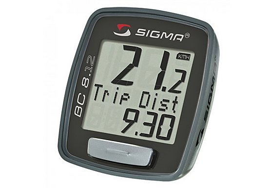 Sigma Sport BC8.12 Wired 8 Function Cycle Computer - Black