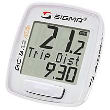 image of Sigma Sport BC8.12 Wireless 8 Function Cycle Computer - White