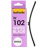 image of Halfords Wiper Blade Single FW01 - Flat
