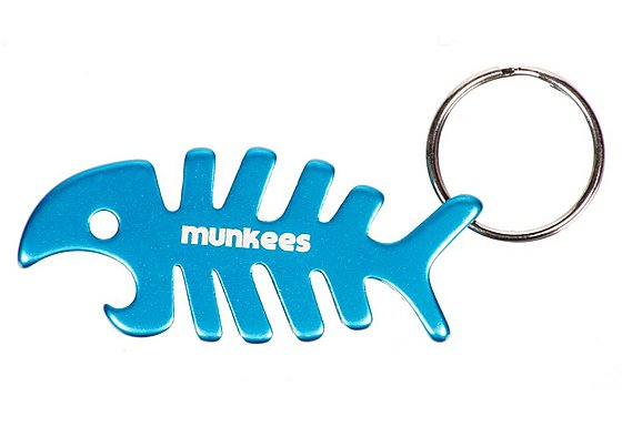 Munkees Fishbone Bottle Opener Keyring