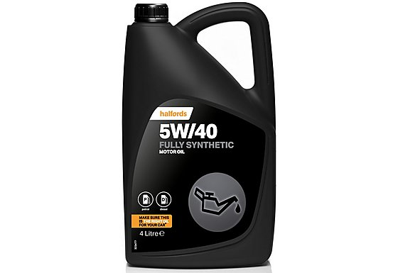 Halfords 5W/40 Fully Synthetic Petrol & Diesel Oil 4L