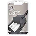 image of Go Travel Leather Luggage Labels (Twin Pack)