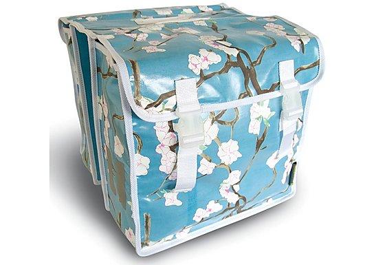 Basil Blossom Twig Hip Blue Double Pannier Bike Bag - 35L