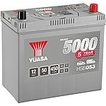 image of Yuasa 12V Silver Car Battery HSB053 - 5 Yr Guarantee