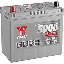 image of Yuasa 12V Silver Car Battery HSB057 - 5 Yr Guarantee