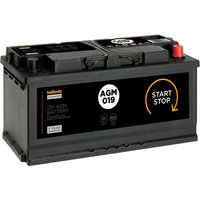 Halfords Start/Stop 12V AGM Battery 019AGM with 4 year guarantee