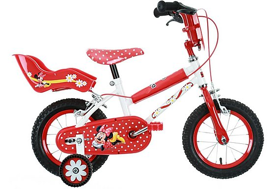 Minnie Mouse Girls Bike 12
