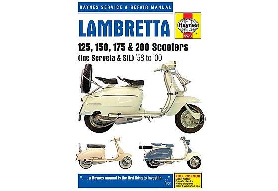 Haynes Lambretta 125, 150, 175 & 200 Scooters Repair Manual