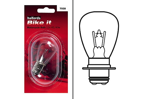 Halfords Bike it Motorcycle Bulb HMB7028 12v 45/40w
