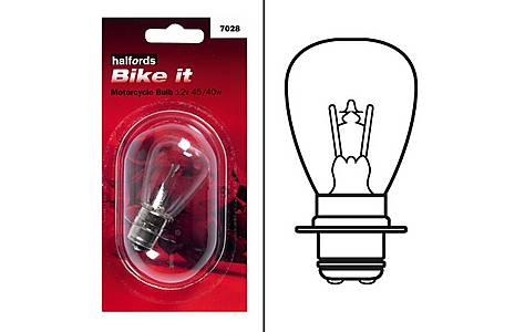 image of Halfords Bike it Motorcycle Bulb HMB7028 12v 45/40w
