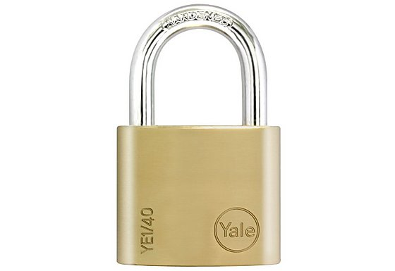 Yale Essential 40mm Brass Padlock