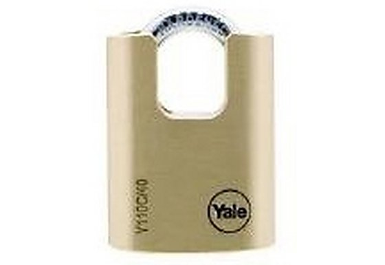 Yale 40mm Open Shackle and Closed Shackle Brass Padlock Twin Pack