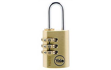 image of Yale 40mm Brass and 30mm Combination Padlock Twin Pack