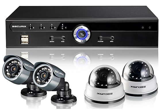 Securix SME4 R12 CCTV Kit with 4 Channel 500GB DVR and 4x 420TVL Cameras