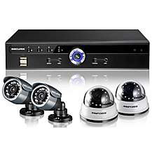 image of Securix SME4 R12 CCTV Kit with 4 Channel 500GB DVR and 4x 420TVL Cameras
