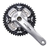 image of Shimano Deore FC-M590 2 Piece Design 9-Speed Chainset - Silver