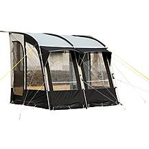 image of Royal Wessex 260 Pole Caravan Awning - Black/Silver