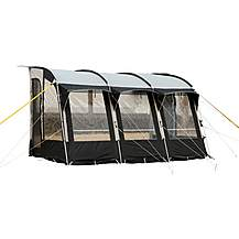 image of Royal Wessex 390 Pole Caravan Awning - Black/Silver