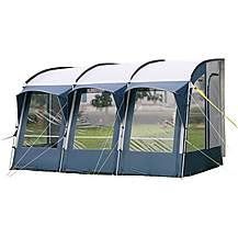 image of Royal Wessex 390 Pole Caravan Awning - Blue/Silver