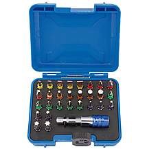 image of Draper 29 Piece  Coloured Screwdriver Bits