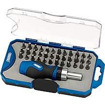 image of Draper 37 piece Ratchet screwdriver Bit Set