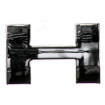 image of Chrome Letter Badge H