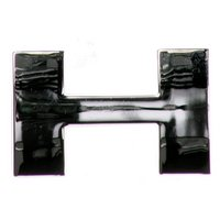 Chrome Letter Badge H