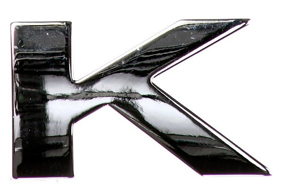Chrome Letter Badge K