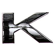image of Chrome Letter Badge K