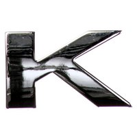chrome-letter-badge-k