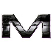 Chrome Letter Badge M