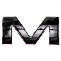 Chrome Letter Badge M