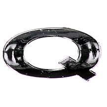 image of Chrome Letter Badge Q