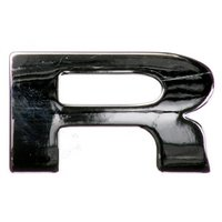 Chrome Letter Badge R