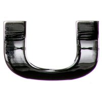 chrome-letter-badge-u