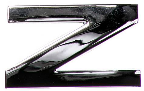 image of Chrome Letter Badge Z