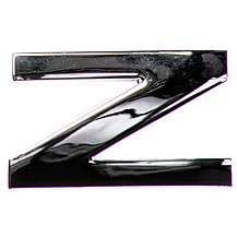 image of Chrome Letter Badge Z