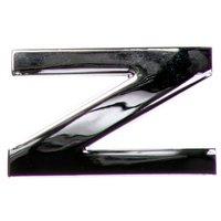 chrome-letter-badge-z