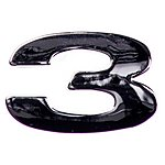 image of Chrome Number Badge 3